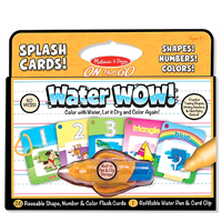 On the Go Water Wow! Splash Cards Shapes, Numbers, Colors