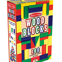 100 Piece Wood Blocks Sets