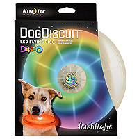 FlashFlight LED Light-Up Dog Discuit - Disco