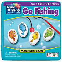 Magnetic Travel Go Fishing Game