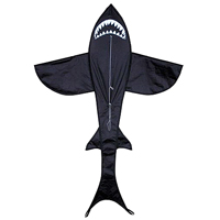 7 ft Shark Kite - Black