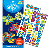 Glow-in-the-Dark Paper Spinners Sticker Kit