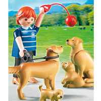 Playmobil Dog Breeds - Golden Retriever with Puppies