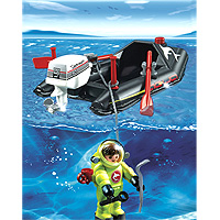 Playmobil Vacation - Dinghy with Diver