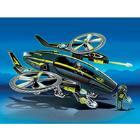 Playmobil Top Agents 2 - Mega Masters Razor-copter