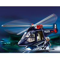 Playmobil Police - Police Helicopter with LED Spotlight