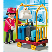 Playmobil Hotel - Porter with Baggage Cart