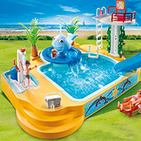 Playmobil Camping - Children's Pool with Whale Fountain