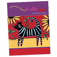 Gabriella Denton Folk Art Coloring Book