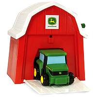 John Deere Musical Tractor in the Barn
