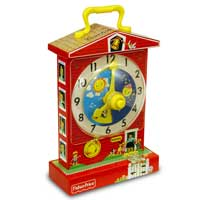 Retro Fisher Price Teaching Clock