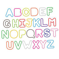 Alphabet SillyBandz Shapes - 36 pc