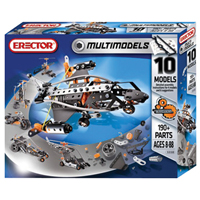 Erector 10 Model Set - 190 pc
