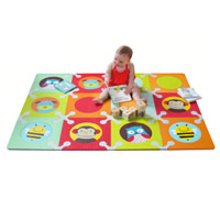 Playspot Foam Floor Tiles - Zoo Multi