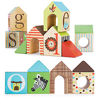 Alphabet Zoo House Blocks