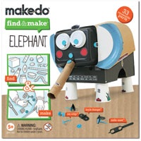 Makedo Find & Make Elephant - 33 pc