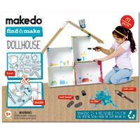 Makedo Find & Make Dollhouse - 57 pc