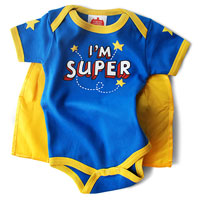 Wry Baby Super Snapsuit - I'm Super