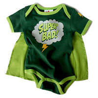 Wry Baby Super Snapsuit - Super Bad