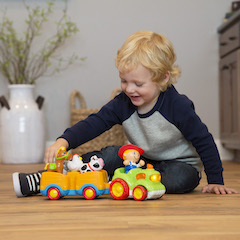 Giddy Up /& Gallop Cowboy and Horse Imaginative Play for Ages 1 to 2 Fat Brain Toys Clatter Cowboy