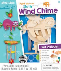 Works of Ahhh Sloth Wind Chime - Best Arts & Crafts for Ages 4 to 10