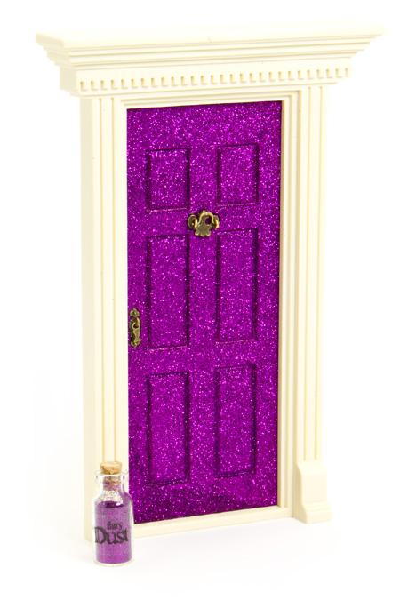 39 lil fairy door sparkly for Purple fairy door